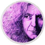 Robert Plant Purple Round Beach Towel by Patrice Torrillo
