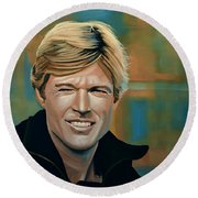 Robert Redford Round Beach Towel