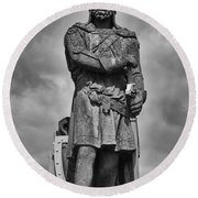 Robert The Bruce Round Beach Towel by Eunice Gibb