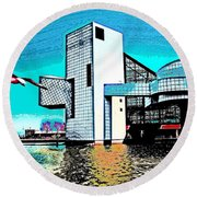 Round Beach Towel featuring the photograph Rock And Roll Hall Of Fame - Cleveland Ohio - 4 by Mark Madere
