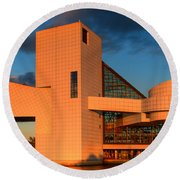 Rock And Roll Hall Of Fame Round Beach Towel by Jerry Fornarotto
