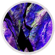 Rock Art 19 Round Beach Towel by ABeautifulSky Photography