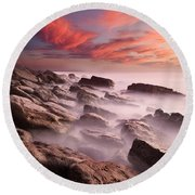 Rock Caos Round Beach Towel