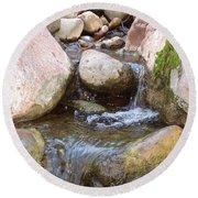 Round Beach Towel featuring the photograph Rock Creek by Kerri Mortenson
