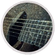 Rock Guitar Round Beach Towel