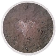 Rock Heart Round Beach Towel