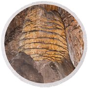 Rock Of Ages Carlsbad Caverns National Park Round Beach Towel