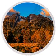 Rock Of Ages Panorama Round Beach Towel by Greg Norrell