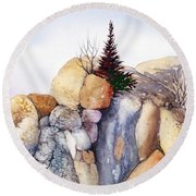 Rock Patterns Turnagain Round Beach Towel by Teresa Ascone