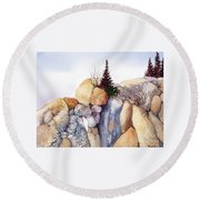 Rock Patterns Turnagain Round Beach Towel