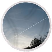 Round Beach Towel featuring the photograph Rocket To The Stars by Michael Krek