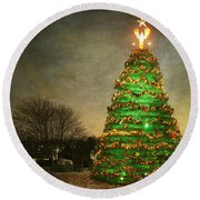 Rockland Lobster Trap Christmas Tree Round Beach Towel