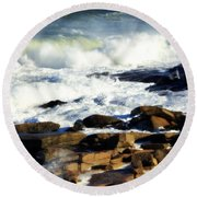 Rockport Round Beach Towel by Kenny Glotfelty