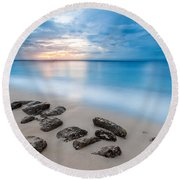 Rocks By The Sea Round Beach Towel by Mihai Andritoiu
