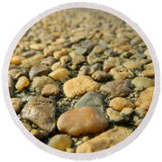 Rocks On My Path Round Beach Towel