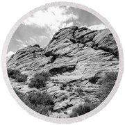 Rockscape In Greys Round Beach Towel