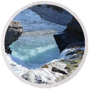 Elbow Falls Water  1.1 Round Beach Towel