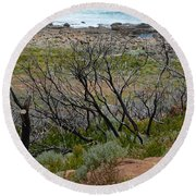 Rocky Outcrop Round Beach Towel