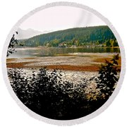 Round Beach Towel featuring the photograph Rocky Point Port Moody by Sher Nasser