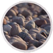 Rocky Shore Round Beach Towel