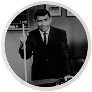 Rod Serling Round Beach Towel by Rob Hans