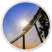 Roller Coaster Round Beach Towel