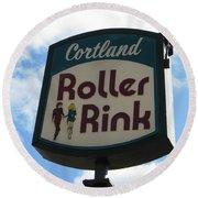 Roller Rink Round Beach Towel by Michael Krek