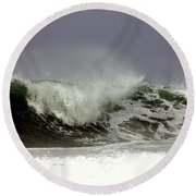 Round Beach Towel featuring the photograph Rolling In The Deep by Debra Forand