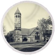 Rollins Chapel Dartmouth College Hanover New Hampshire Round Beach Towel by Edward Fielding