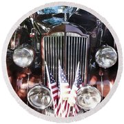 Rolls Royce Car  Round Beach Towel
