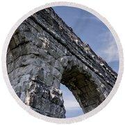 Roman Aqueducts II Round Beach Towel