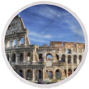 Roman Icon Round Beach Towel by Joan Carroll