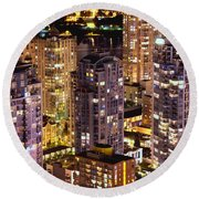 Round Beach Towel featuring the photograph Romance In Yaletown Mcdxxxi by Amyn Nasser