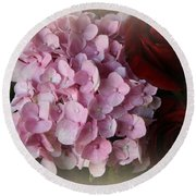 Round Beach Towel featuring the photograph Romantic Floral Fantasy Bouquet by Kay Novy