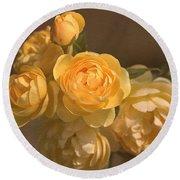Romantic Roses Round Beach Towel by Joy Watson