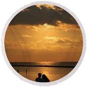 Romantic Sunrise Round Beach Towel