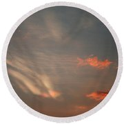 Romantic Sky Round Beach Towel
