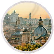 Rome - Italy Round Beach Towel by Luciano Mortula