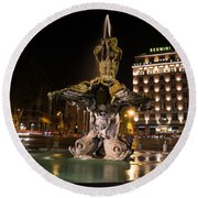Rome's Fabulous Fountains - Bernini's Fontana Del Tritone Round Beach Towel