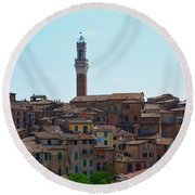 Roofs Of Siena Round Beach Towel
