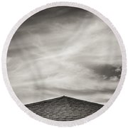 Rooftop Sky Round Beach Towel