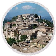 Rooftops Of The Italian City Round Beach Towel by Dany Lison