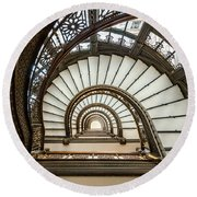 Rookery Building Oriel Staircase Round Beach Towel
