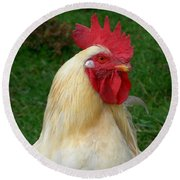 Round Beach Towel featuring the photograph Rooster Cogburn by Joseph Skompski