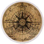 Root Patent I Round Beach Towel by James Christopher Hill
