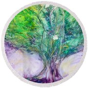 Rooted In Love Round Beach Towel
