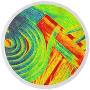 Rope Abstract Round Beach Towel