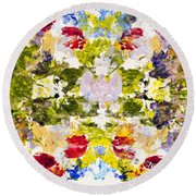 Rorschach Test Round Beach Towel