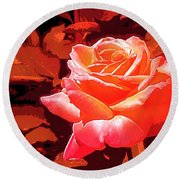 Rose 1 Round Beach Towel by Pamela Cooper