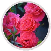 Rose 138 Round Beach Towel by Pamela Cooper